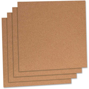 "Lorell Natural Cork Panels with Frame, 12""W x 12""H"