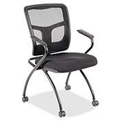 Lorell Mesh-Back Guest Chair, LLR84374, Black, Set of 2