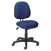 Lorell Contoured Task Chair, LLR84865, Fabric, Blue/Black