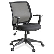 Lorell Mesh-Back Executive Chair, LLR84868, Fabric, Black