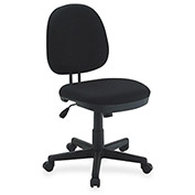 Lorell Contoured Task Chair, LLR84870, Fabric, Black