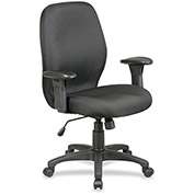 "Lorell® High Performance Ergonomic Chair, 27-1/4""W x 25-1/2""D x 41-1/2""H, Black"