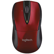 Logitech 910-002697 M525 Full-Size Wireless Mouse, Red