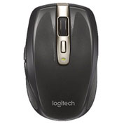 "Logitech Wireless Mouse, 910002896, 5 Button, 2-1/2"" X 4-1/2"" X 1-3/4"", Black"