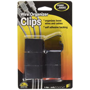 Master® CordAway® 00204 Self-Adhesive Wire Clips, Black, Pack of 6