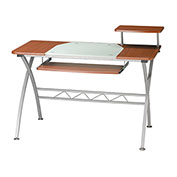 "Mayline Vision Desk, 47-1/4"" x 27"" x 34"", Medium Cherry"