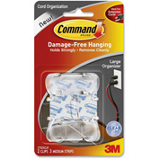 3M™ Cord Clips, 17303CLR, Large, 2/Pk, Clear