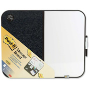 "Post-it Bulletin/Dry Erase Board with Black Frame, 22""W x 18""H"