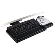 "3M™ AKT80LE Adjustable Keyboard Tray, 17-3/4"" Track Length, Black"