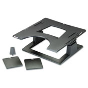 "3M™ Ergonomic Notebook Riser, LX500, 13-1/4"" X 13-1/4"" X 4""-6"", Black"