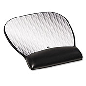 3M™ MW310LE Gel Wrist Rest/Mouse Pad, Non-Skid Base, Black