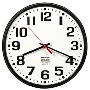 "SKILCRAFT 12.75"" Slimline Wall Clock, Black"