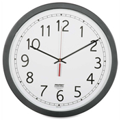 "SKILCRAFT 16.5"" Round Workstation Wall Clock, Black"