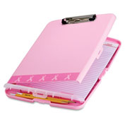 Officemate® Breast Cancer Awareness Slim Clipboard Storage Box 08925