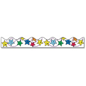 "Pacon Bordette Design Decorative Border - Star - 2.3"" x 25 ft - Paper - Assorted"