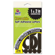 """Pacon® Self Adhesive Letters, 1"""" to 2""""H, 276 Characters, Black"""
