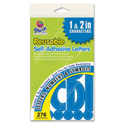 "Pacon® Self Adhesive Letters, 1"" to 2""H, 276 Characters, Blue"