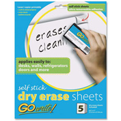 Pacon Adhesive Dry Erase Sheet, 5/Pack