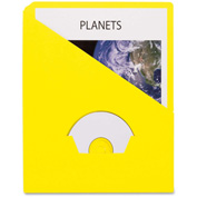 "Pendaflex Essentials Slash Pocket Project Folder, 8-1/2""W x 11""H, Yellow, 25/PK"