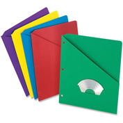 "Pendaflex Essentials Slash Pocket Folder, 8-1/2""W x 11""H, Multi, 25/PK"