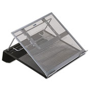 "Rolodex Laptop Stand, 2-Tone, 13""x11-1/8""x3-1/2"", Black/Silver"