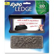 Expo Ledge with Foam Eraser, Black