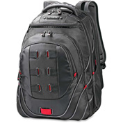 """Samsonite® Tectonic Carrying Case (Backpack) for 17"""" Notebook - Black, Red"""