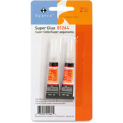 Super Glue Tube, Instant Bonding, .07oz., 2/Pk