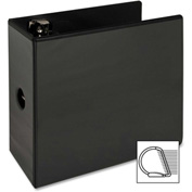 "Slant Ring View Binder, w/ Spine Hole, 5"" Cap., 11""x8-1/2"", Black"