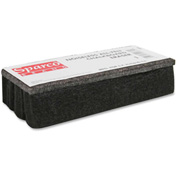 Sparco All Felt Dustless Chalk Board Eraser, Black