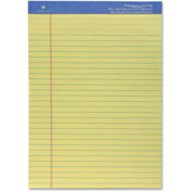 "Sparco Perforated Canary Wide Pad 8-1/2"" x 11-3/4"" Ruled 50 Sheets"
