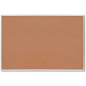 "Sparco Cork Board with Silver Frame, 36""W x 24""H"