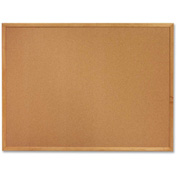 "Sparco Cork Board with Oak Frame, 48""W x 36""H"