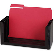 "Folder Holder, 5 Compartment, 12-1/2""-15-1/2""x5-3/8""x6-1/8"", Black"