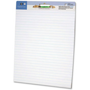 Sparco Self-stick Ruled Easel Pad - 30 Sheet - 20 lb - Ruled - 2/Carton - White Paper