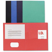 Double Pocket Portfolio, 125 Sheet Cap., 25/Box, Assorted