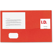 Double Pocket Portfolio, 125 Sheet Cap., 25/Box, Red