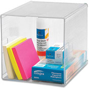 "Storage Organizer, 6""x6""x6"", Clear"