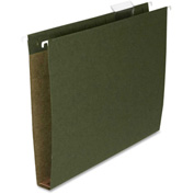 "Box Bottom Hanging File Folders, Letter, 1"" Cap, 25/Box, Green"