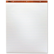 "TOPS Horizontal Ruled Easel Pad - 50 Sheet - 15 lb - Ruled - 27"" x 34"" - 2/Carton - White Paper"