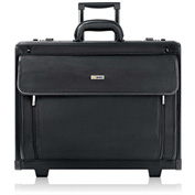 "Solo® Rolling Laptop Case, PV784, 18-1/4"" X 10-1/2"" X 14-3/4"", Polyvinyl/Polyester, Black"