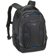 "Solo® Tech Backpack for 17.3"" Notebook, iPad, Digital Text Reader, Tablet PC - Black, Blue"