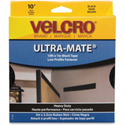 "VELCRO®Brand U.S.A. Inc Fastener Tape, Hook/Loop, Water-Resistent 1""x10', Black"