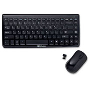 Verbatim® 97472 Wireless Mini Slim Keyboard and Mouse, Black