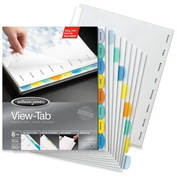 Wilson Jones View-Tab Paper Divider, 8 Tabs, White/Multicolor