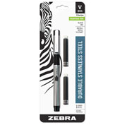 ZebraPen Fountain Pen, Black Ink, Black Barrel, 1 Each