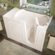 MediTub 2653 Series Rectangular Air Jetted Walk-In Bathtub, 26 x 53, Right Drain, Biscuit