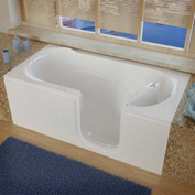 MediTub 3060 Series Rectangular Soaking Walk-In Bathtub, 30 x 60, Right Drain, White