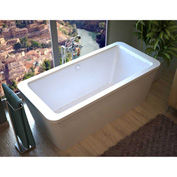 Atlantis Whirlpools Aquarius Rectangular Air Jetted Bathtub, 34 x 67, Center Drain, White