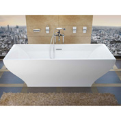 Atlantis Whirlpools Gulf Rectangular Soaking Bathtub, 32 x 71, Center Drain, White